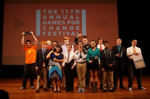 Winners of the 2013 National STEM Video Game Challenge at the award ceremony